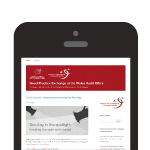 Mobile phone displaying GPX blog